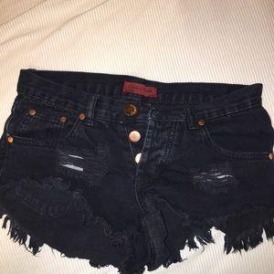 Black jean shorts size S